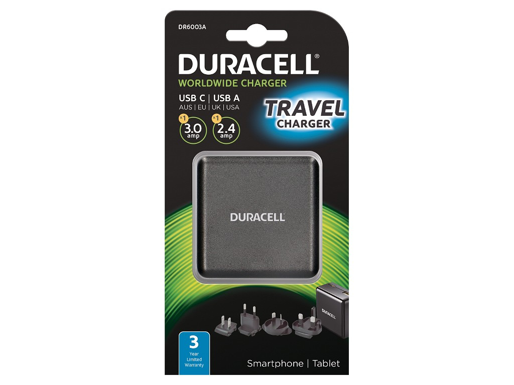 Duracell Type-C & Type-A Wall Charger