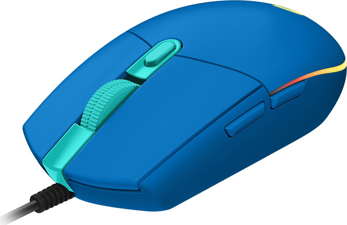 Logitech G G203 ratón USB tipo A 8000 DPI