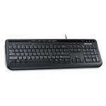 Microsoft Wired Keyboard 600, Black USB Black keyboard