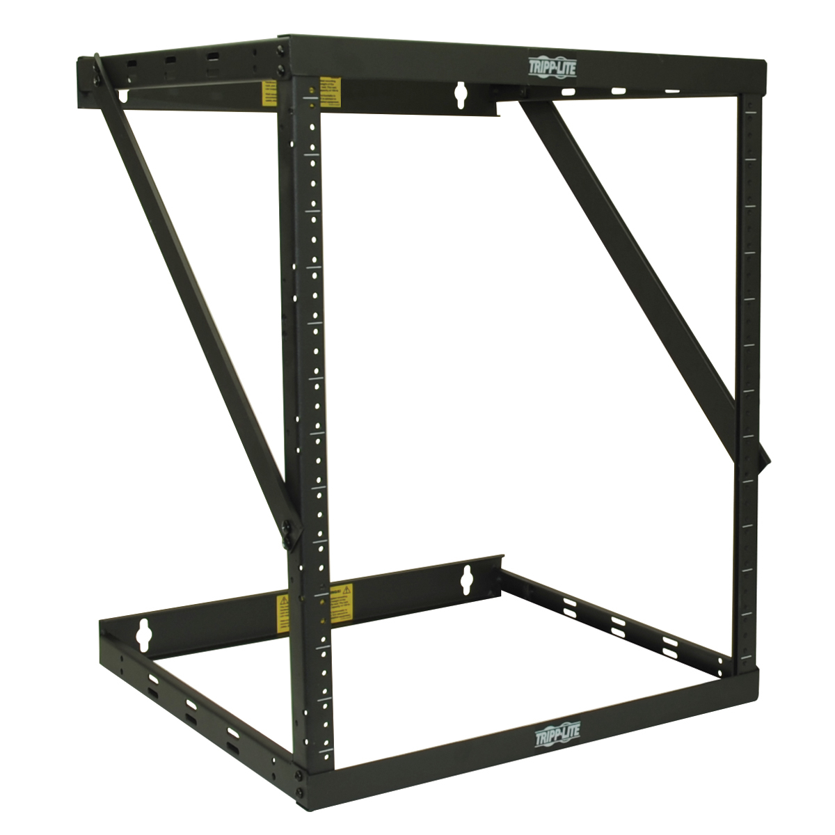 Tripp Lite SmartRack 8U/12U/22U Expandable Flat-Pack Low-Profile Switch-Depth Wall-Mount 2-Post Open Frame Rack