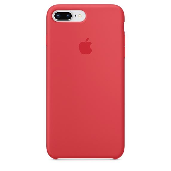 iPhone 8 Plus/7 Plus Silicon Case Red