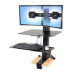 Ergotron WorkFit-S, Dual with Worksurface+