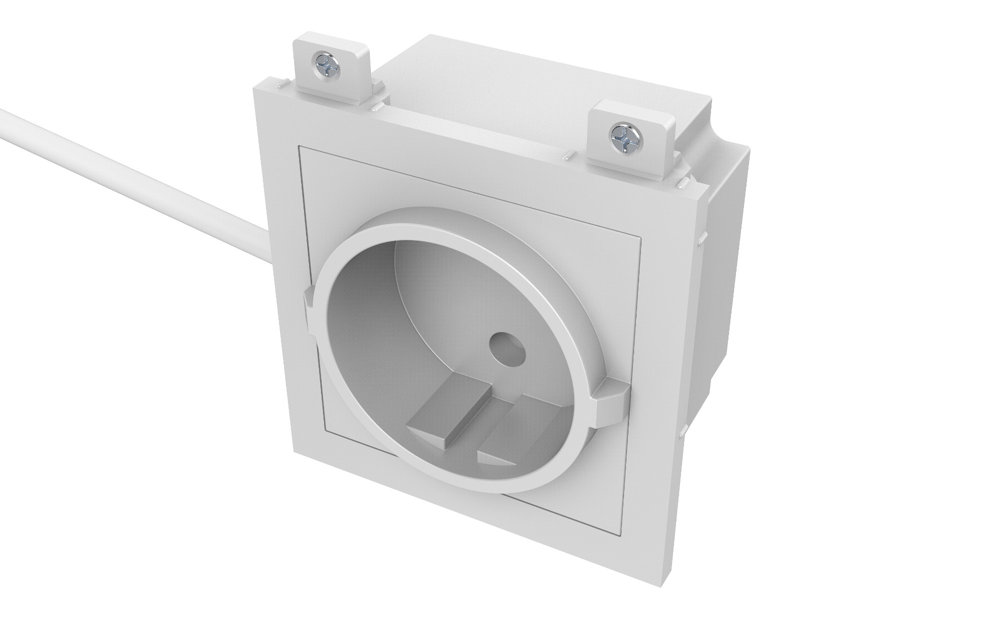 Vision TC3 PWREU toma de corriente CEE 7/3 Blanco
