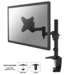 "Newstar Full Motion Desk Mount (clamp & grommet) for 10-30"" Monitor Screen, Height Adjustable - Black"