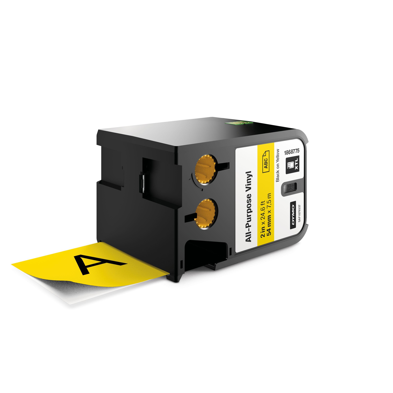 DYMO 1868775 Black on yellow label-making tape