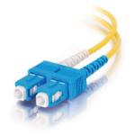 """C2G 6m SC/SC Duplex 9/125 Single-Mode Fiber Patch fiber optic cable 236.2"""" (6 m) Yellow"""