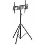 "Manhattan Monitor Tripod Floor Stand, 1 screen, 37-70"", Vesa 200x200 to 600x400mm, Height 124-188cm, Max 35kg, Black"