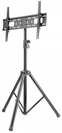 """Manhattan Monitor Tripod Floor Stand, 1 screen, 37-70"""", Vesa 200x200 to 600x400mm, Height 124-188cm, Max 35kg, Black"""