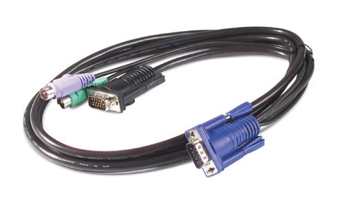 APC AP5254 KVM cable Black 3.66 m
