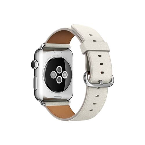 Apple 42mm Classic Buckle - Watch strap - white - for Watch (42 mm), Watch Edition (42 mm), Watch Herm�s (