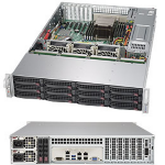 Supermicro 6028R-E1CR12H Intel C612 LGA 2011 (Socket R) 2U Black