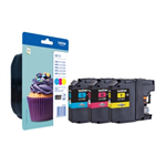 Brother LC-123RBWBP Ink cartridge multi pack, 600 pages, Pack qty 3 LC123RBWBP