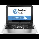 """HP Pavilion x360 11-k103la 1.6GHz N3700 11.6"""" 1366 x 768Pixeles Pantalla táctil Plata"""