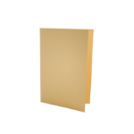 Exacompta Value Square Cut Folder LightWeight Foolscap Yellw PK100