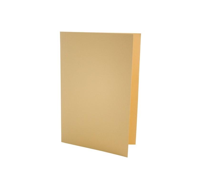 Exacompta Value Square Cut Folder LightWeight Foolscap Yellw PK100