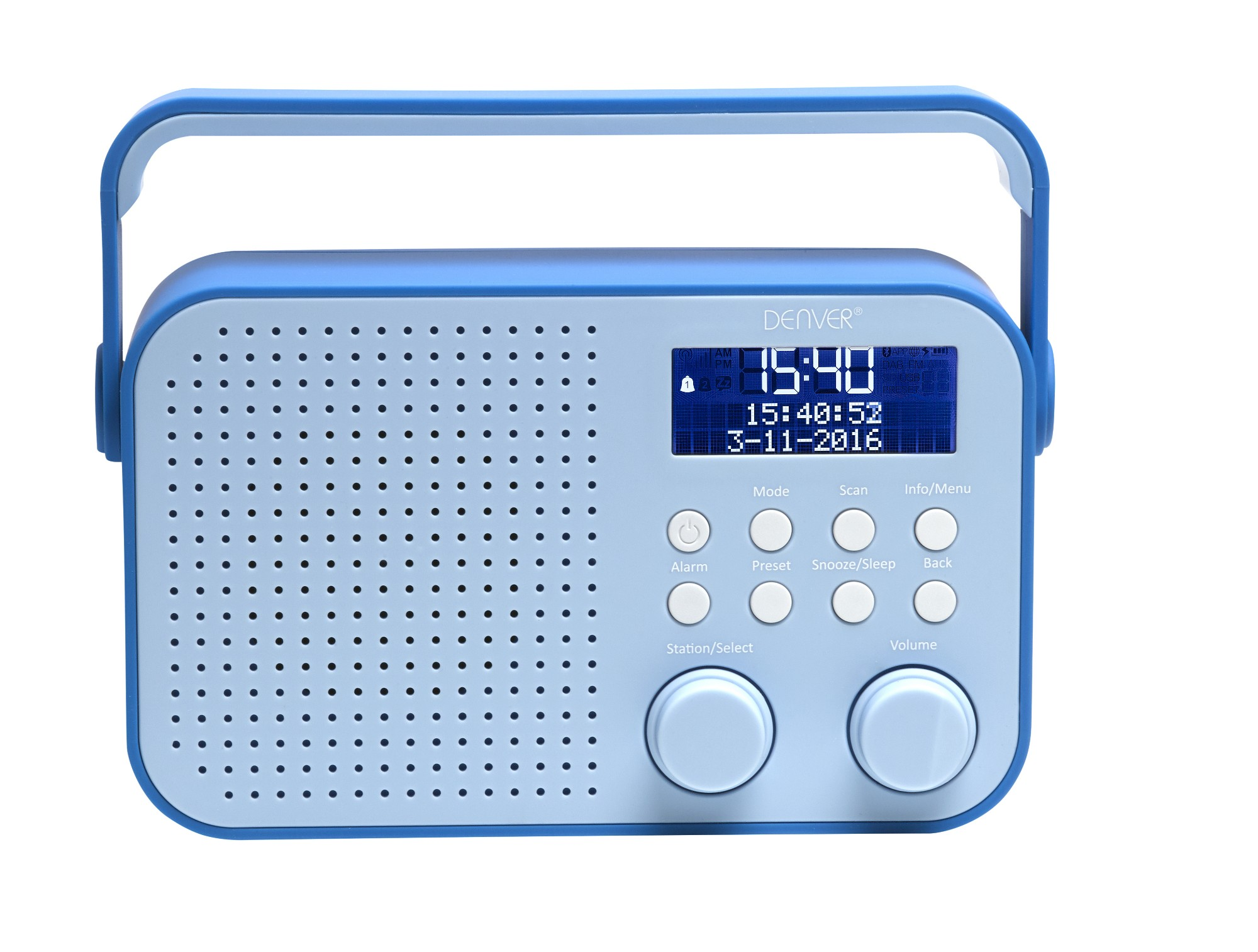 Denver Electronics DAB-39BLUE Portable Digital radio