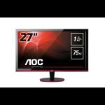 "AOC Gaming G2778VQ pantalla para PC 68,6 cm (27"") 1920 x 1080 Pixeles Quad HD Plana Mate Negro, Rojo"