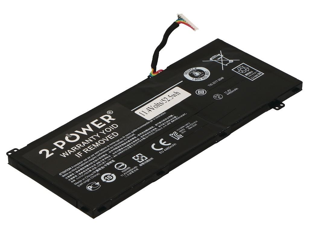 2-power - Main Battery Pack 11.4v 4450mah Aspire Vn7-791g