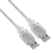 Astrotek 1m USB 2.0 A M/M USB cable USB A Transparent