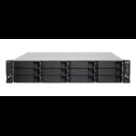 QNAP TS-h1283XU-RP-E2236-32G 168TB 12x14TB Seagate Exos 12 Bay NAS Rackmount Ethernet LAN Rack (2U) Black, Grey