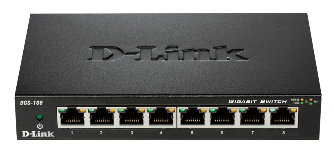 D-Link DGS-108 Unmanaged network switch Black network switch