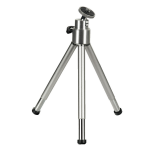 Hama Mini Tripod with Ball Tilt Head, silver 2-sectionleg(s) Silver tripod