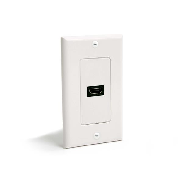 StarTech.com Single Outlet Female HDMI Wall Plate White