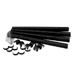Videk 7116 Straight cable tray Black