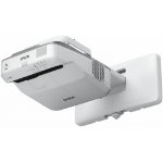 Epson EB-675W Wall-mounted projector 3200ANSI lumens 3LCD WXGA (1280x800) 3D Grey,White data projector
