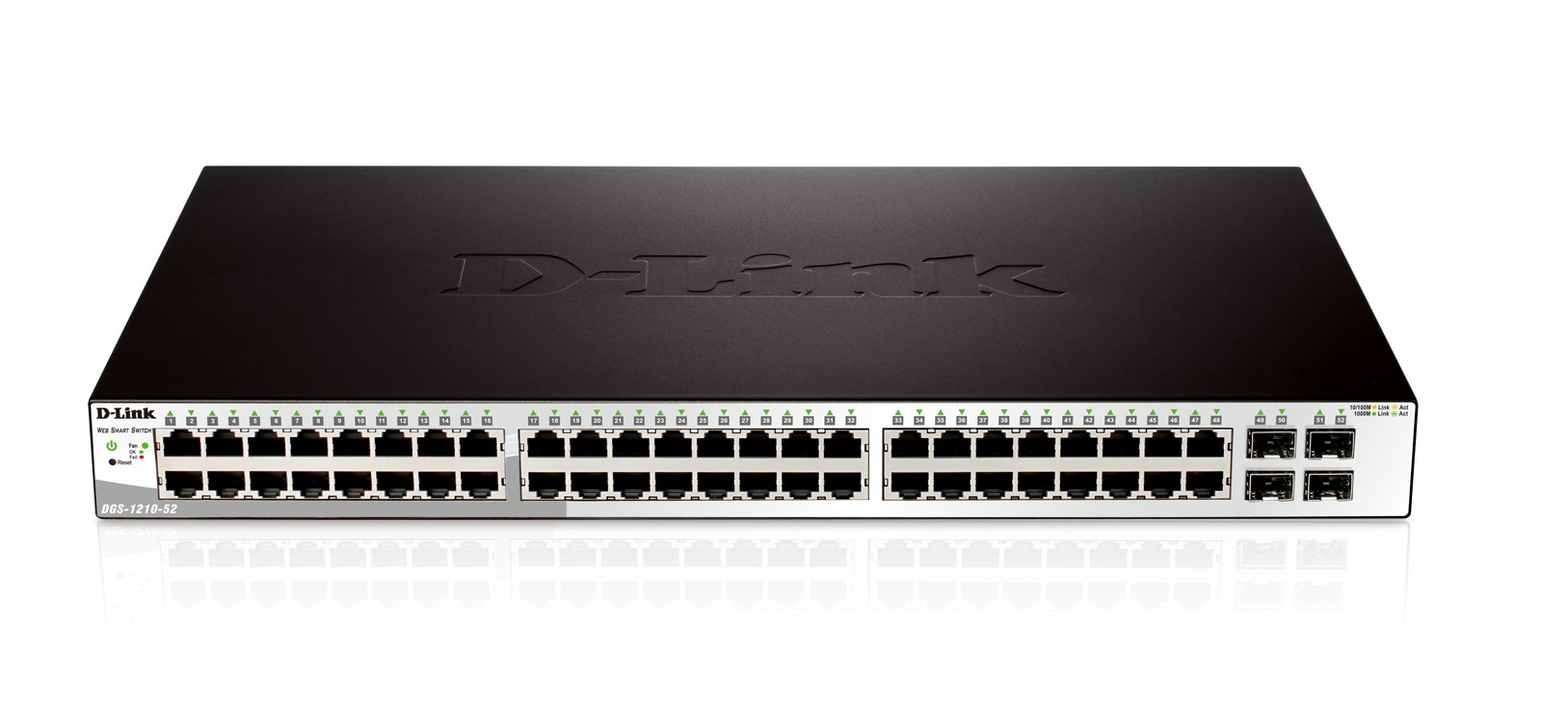 D-Link DGS-1210-52 switch Gestionado L2 Gigabit Ethernet (10/100/1000) Negro 1U