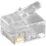 Microconnect KON502-10R wire connector RJ-12 6P6C Transparent