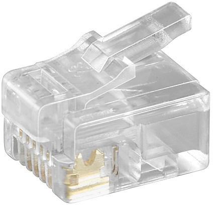 Microconnect KON502-10R wire connector RJ-12 6P6C Transparent