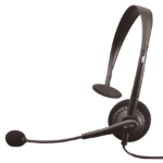 Cyber Acoustics AC-100b Monaural Wired Black mobile headset