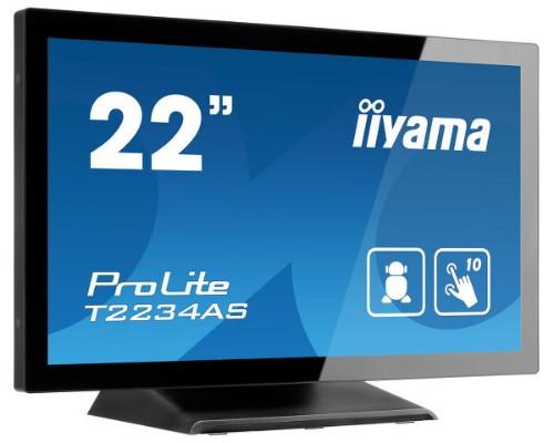 "iiyama ProLite T2234AS-B1 touch screen monitor 54.6 cm (21.5"") 1920 x 1080 pixels Black Multi-touch Multi-user"