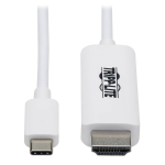 "Tripp Lite U444-006-HWE video cable adapter 72"" (1.83 m) USB Type-C HDMI Type A (Standard) White"