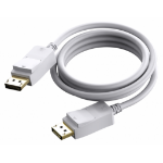 Vision TECHCONNECT 1M DISPLAYPORT CABLE Engineered connectivity solution, White, Displayport 1.2, 4K compliZZZZZ], TC 1MDP