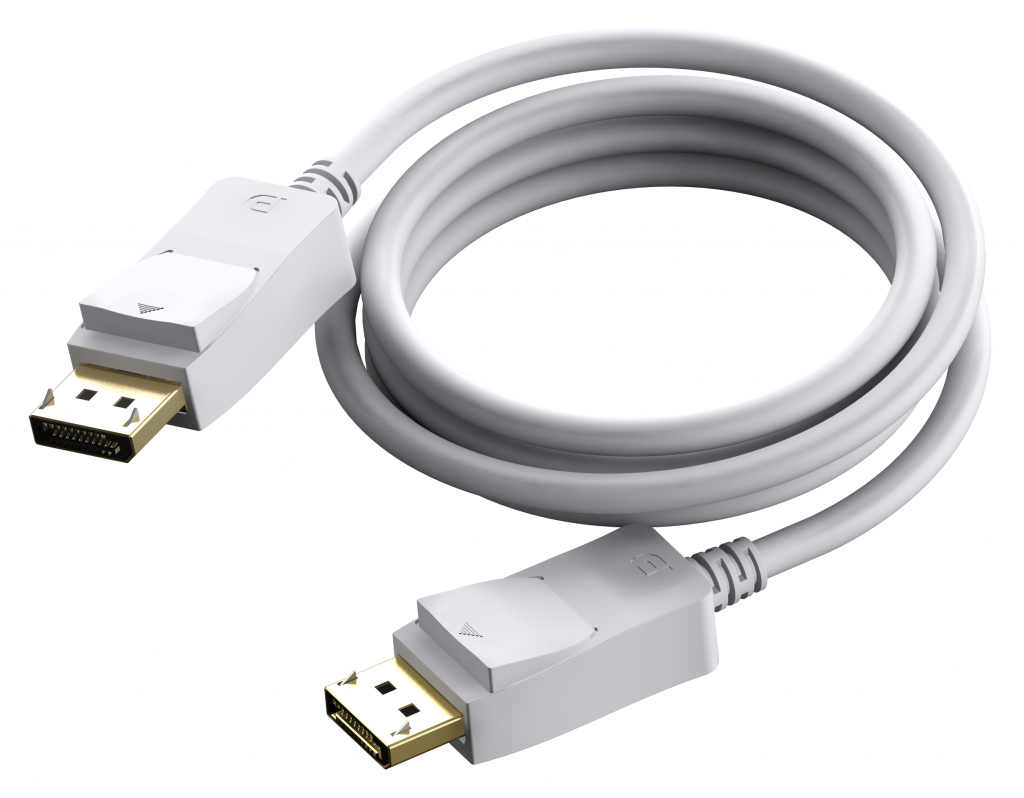 Vision TC 1MDP cable DisplayPort 1 m Blanco