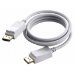 Vision TECHCONNECT 1M DISPLAYPORT CABLE Engineered connectivity solution, White, Displayport 1.2, 4K compli