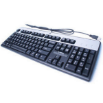 HP 434821-067 USB Black, Silver keyboard