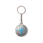 Nintendo Legend of Zelda Breath of the Wild Sheikah Eye Coin Pendant Metal Keychain, One Size, Silver (KE3208