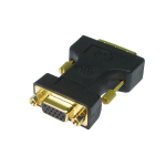 Cables Direct CDL-DV001 cable interface/gender adapter DVI-A VGA Black, Gold