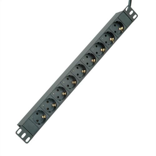 ROLINE 19.07.1621 power extension 2 m 9 AC outlet(s) Indoor Black