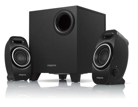 Creative Labs A250 speaker set 2.1 channels Black