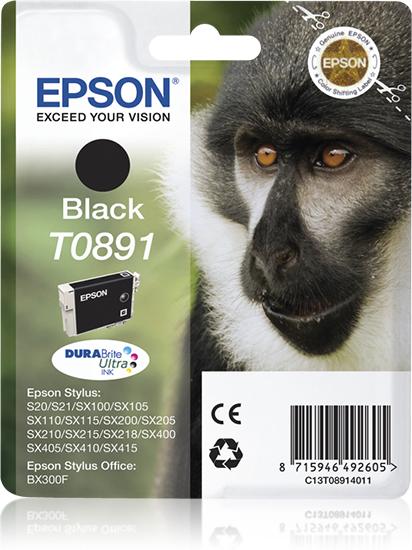 Epson Monkey Cartucho T0891 negro (etiqueta RF)