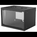 "Intellinet 19"" Basic Wallmount Cabinet, 6U, 400mm Deep, IP20-Rated Housing, Max 50kg, Flatpack, Black"