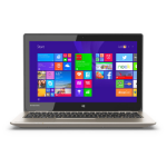 "Mini Laptop Toshiba Satellite Cel N2840 2GB SSD 32GB 11.6""Touch Win 8.1 REACONDICIONADO dir"