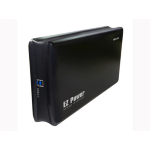 "Welland EZ Power ME-760E 3.5"" SATA 6G to USB 3.0 Portable Enclosure - Black Aluminium"