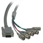 C2G Video HD15M / 5-BNC M cable 5m VGA (D-Sub) 5 x BNC Grey