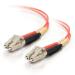 C2G 85503 cable de fibra optica 30 m OFNR LC Naranja