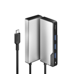 ALOGIC UCFUHD-SGR interface hub USB 3.2 Gen 1 (3.1 Gen 1) Type-C 5000 Mbit/s Black,Silver